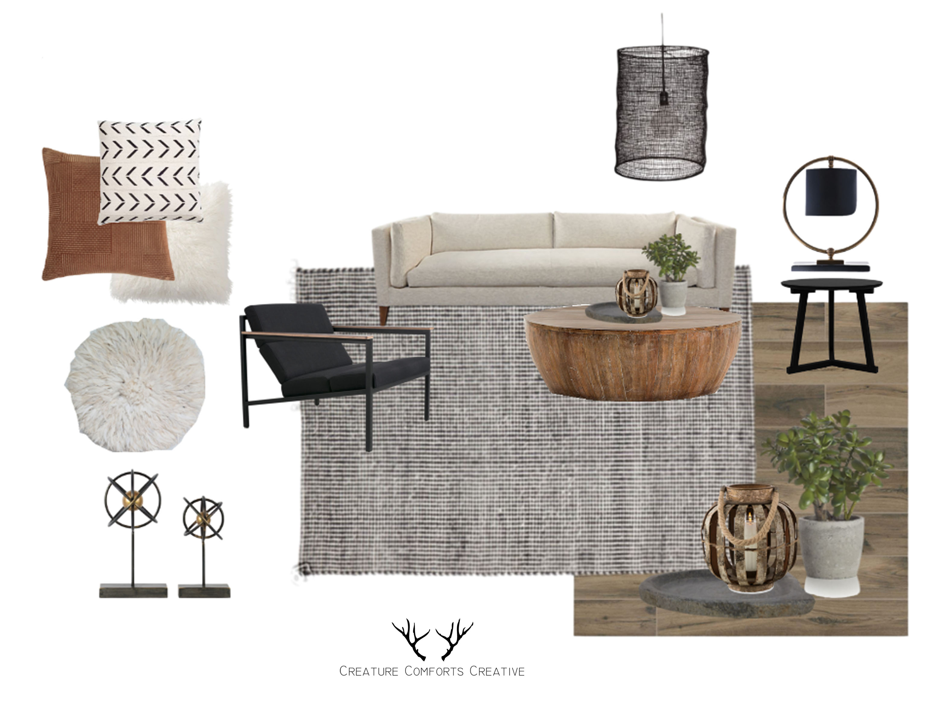 Using A Mixture Of Square And Rounded Furniture, Delicately Balance Modern  Styles With Organic Shapes And Textures, Allowing Tribal ...